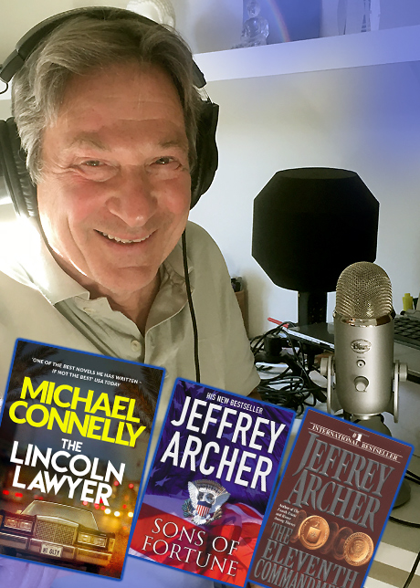 Michael Brandon audio books collage